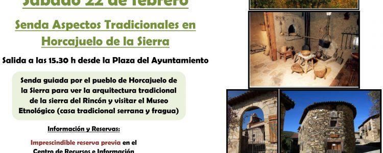 """Senda guiada y gratuita sobre los """"Aspectos Tradicionales de Horcajuelo de la Sierra""""<span class="""
