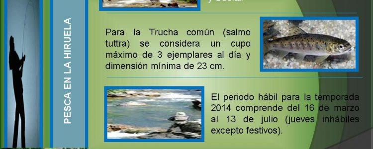 Pesca en La Hiruela<span class=