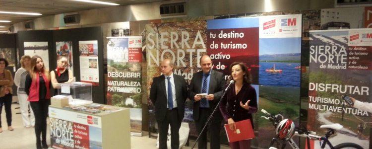 Se exhibe la riqueza turística de la Sierra Norte De Madrid entre los viajeros del Metro<span class=