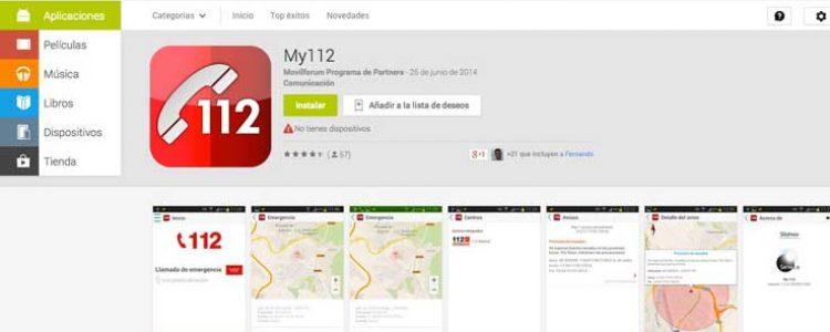 Nueva #APP gratuita de la Comunidad de Madrid, My112, que alerta de las inclemencias y fenómenos meteorológicos