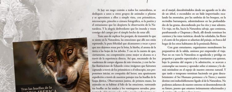&#8220;Tras las huellas de la fauna ibérica&#8221; nuevo libro del naturalista Víctor Hernández<span class=